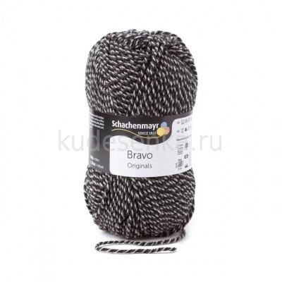 Пряжа Bravo - черный/серый / graphit meliert 08181