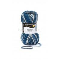 Пряжа Boston - бежевый/белый/голубой / jeans color 00180