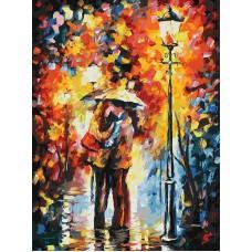 Живопись на картоне Белоснежка арт.БЛ.3015-CS Поцелуй под дождем 30х40 см