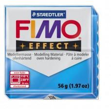 FIMO Effect полимерная глина, запекаемая в печке, уп. 56 гр. цвет: полупрозрачный синий арт.8020-374
