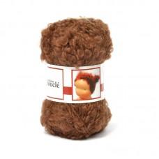 WIT.H04581 Кукольные волосы DE WITTE ENGEL 91% шерсть, 9% акрил, 50м/50г цв.коричневый