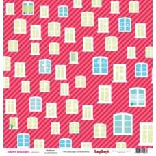Бумага для скрапбукинга арт. SCB.220605505 30,5*30,5 см 180 гр/м двусторон Зимние каникулы, За окном, 10 листов