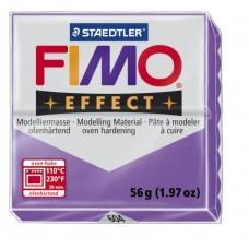FIMO Effect полимерная глина, запекаемая в печке, уп. 56 гр. цв. полупрозрачный фиолет арт.8020-604