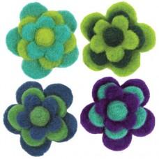 Войлок Цветы, холодные тона арт.DMS- 72-73828