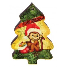 BUT.DC504 Наборы для декупажа BUTTERFLY Елочка с обезьянкой 8,7х6 см
