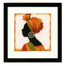 Набор для вышивания  арт.LANARTE-21198 'Африканка' 24х23 см