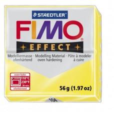 FIMO Effect полимерная глина, запекаемая в печке уп.56 гр. цв.полупрозрачный желтый арт.8020-104
