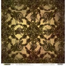 Бумага для скрапбукинга 'стимпатик' арт.CP02053  стрекозы 30,5х30,5см   140г/м  одностор