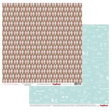 Бумага для скрапбукинга  арт.SCB220606206  30,5х30,5 см 190 гр/м, двусторон Про Любовь Ты и я уп.10 листов
