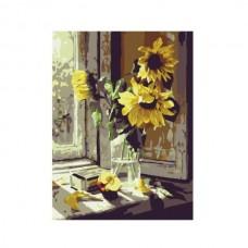 Картины по номерам Molly арт.G065 Букет Подсолнухов (16 Красок) 1/30 40х50 см