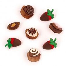 Декоративные элементы JESSE JAMES арт.6544  Шоколадные сладости