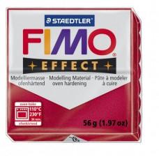 FIMO Effect полимерная глина, запекаемая в печке, уп. 56 гр. цвет: рубиновый металлик, арт.8020-28