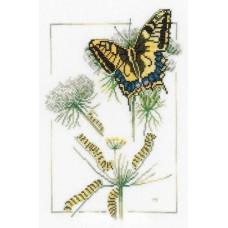 Набор для вышивания  арт.LANARTE-21872А ' Рождение бабочки' 23х32 см