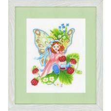 Набор для вышивания  арт.LANARTE-147156А 'Девочкая с дикой земляникой' 22х28 см