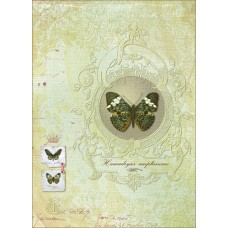 Декупажная карта арт.CH.01083 'Королева бабочек' формат А3
