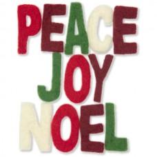 Войлок Украшение 'Мир, радость, новый год' арт.DMS- 72-08219 уп.12букв 4см