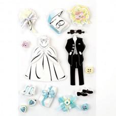 Бумажные 3D стикеры для ручного творчества арт. W3D-10