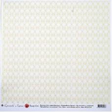 Бумага для скрапбукинга арт.CH.12769 'Кружевная вуаль' 29х29 см
