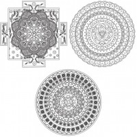 Живопись на картоне Белоснежка арт.БЛ.2953-CS 'Магические мандалы' Самореализация 29,5х29,5 см