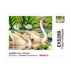 Картины по номерам Molly арт.EX5288 Пара лебедей (20 Красок) 30х40 см
