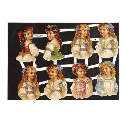 Винтажные вырубки Creativ арт.19346 Девочки  уп.3 листа  16,5*23,5 см