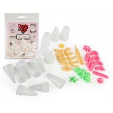 FL.01-0206 FLEUR Candy Clay Насадка кондитерская для Полимерной глины в ассортименте упак.13шт.