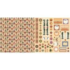 Бумага для скрапбукинга 'русское ассорти' арт.CP01227  декор и теги №3 30,5х30,5см   160г/м  двухсто