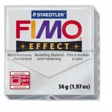 FIMO Effect полимерная глина, запекаемая в печке, уп. 56 гр. цвет: серебряный металлик, арт.8020-81
