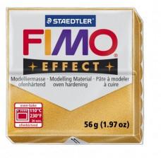 FIMO Effect полимерная глина, запекаемая в печке, уп. 56 гр. цвет: золотой  металлик арт.8020-11
