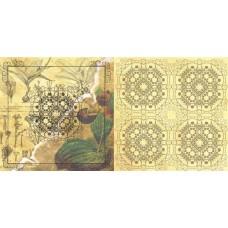 Бумага для скрапбукинга 'ботанический атлас'  арт.CP01043  венерин башмачок 30,5х30,5см   160г/м  дв