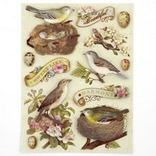 Стикеры-украшения арт.KCO-30-599581 Птицы и Листья, Флора и фауна