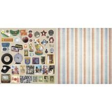 Бумага для скрапбукинга  'Привет из шестидесятых'   арт.CP02903  декор 30,5х30,5см   160г/м  двухсто