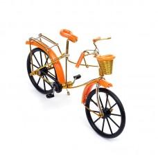 Велосипед арт.КЛ21382 из проволоки оранжевый 19*13см
