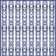 Бумага для скрапбукинга  'Гжель'   арт.CP02477  синяя волна 30,5х30,5см   160г/м  одностор