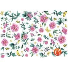 Декупажная карта арт.CH.015014 'Благоухающий сад'  формат А3
