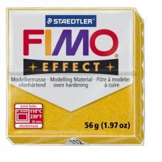 FIMO Effect полимерная глина, запекаемая в печке, уп. 56гр. цвет: золотой с блестками, арт.8020-112
