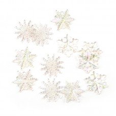 Набор пуговиц JESSE JAMES  арт.2079  ASSORTED SNOWFLAKE BUTTONS-CRYSTAL