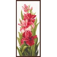 Набор для вышивания 'Палитра'  арт.01.004 'Нежный шелк лепестков' 19*45 см