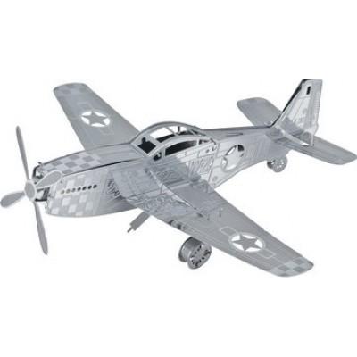 Объемная металлическая 3D модель арт.K0010/D11105 P-51 Mustang 9,5х10х3,6см