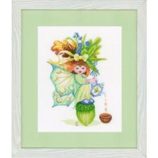 Набор для вышивания  арт.LANARTE-147008А 'Девочка с желудями' 22х28 см
