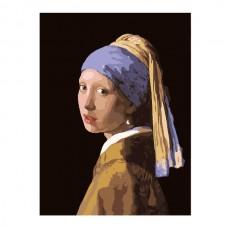Картины по номерам Molly арт.G223 Ян Вермеер. Девушка С Жемчужной Сережкой (26 Красок) 40х50 см
