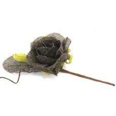 Цветочек арт.КЛ.23830 'Роза' цв.коричневый