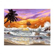Картины по номерам Molly арт.EX5350 Прибой (20 Красок) 30х40 см