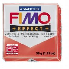 FIMO Effect полимерная глина, запекаемая в печке, уп.56 гр. цв.полупрозрачный красный арт.8020-204