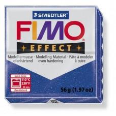 FIMO Effect полимерная глина, запекаемая в печке, уп. 56 гр. цвет: синий с блестками, арт.8020-302