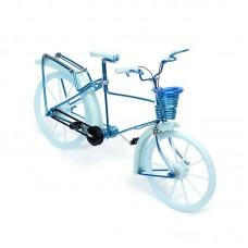 Велосипед арт.КЛ21378 из проволоки голубой 19*13см