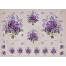 Декупажная карта арт.CH.01552 'Les violettes'  формат А3