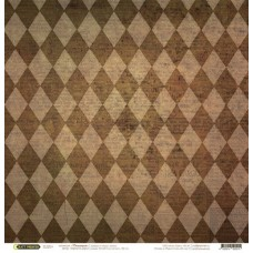 Бумага для скрапбукинга 'стимпатик' арт.CP02015  ромбы 30,5х30,5см   140г/м  одностор