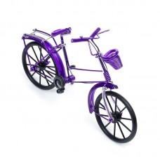 Велосипед арт.КЛ21380 из проволоки фиолетовый 19*13см