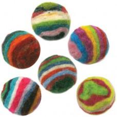 Войлок шарики в полоску арт.DMS- 72-73844